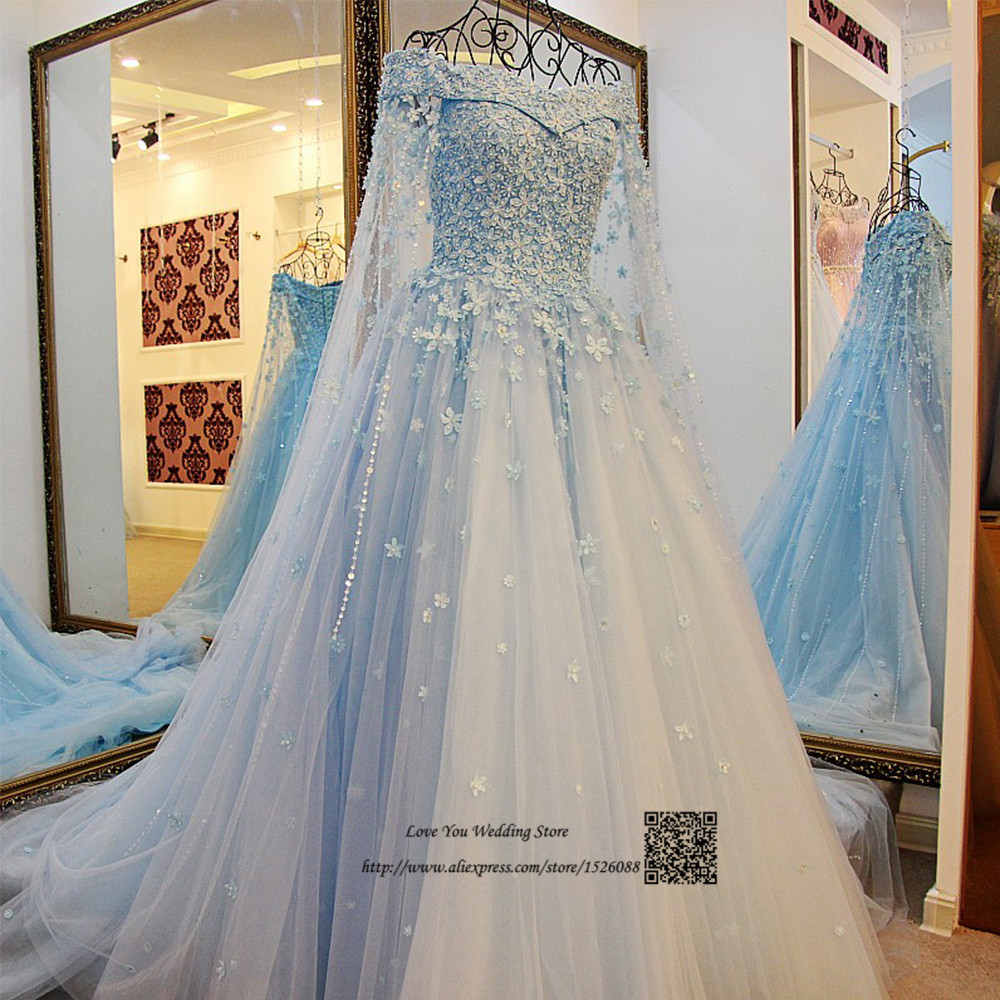US $9.9 9% OFFBiru Gading Boho Gaun Pengantin Renda Bunga Gaun  Pengantin Arab Saudi Arabia Bridal Dresses Beaded Vestido de Noiva