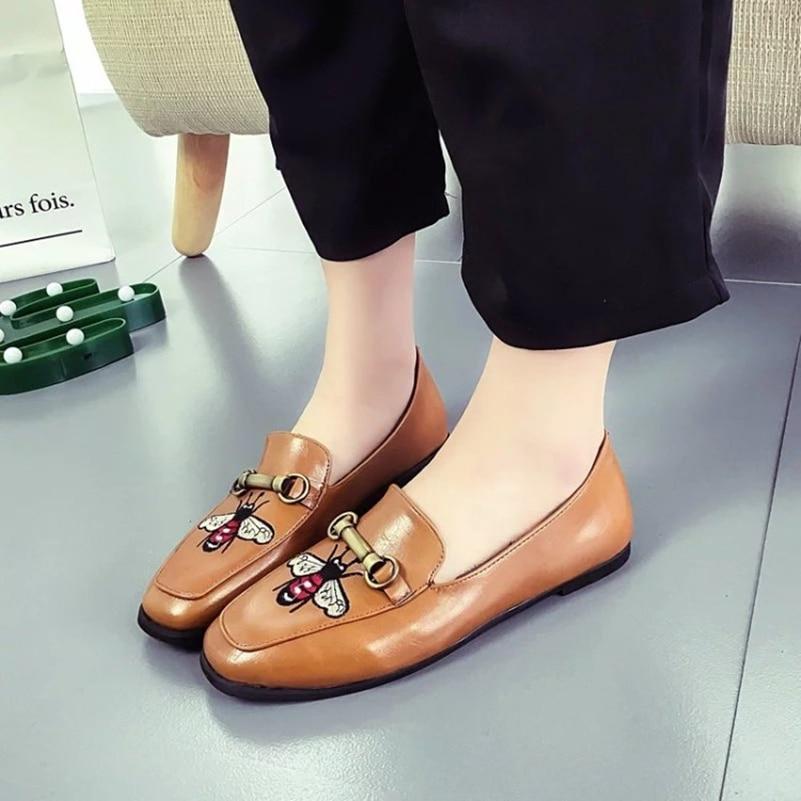 Charol Zapatos de las mujeres Cadenas Zapatos de Oxford Para Las Mujeres de Los