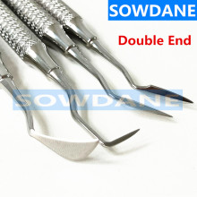 High quality Stainless Steel Dental Scaler Tooth Cleaning Teeth Whitening Oral Care Double Ends
