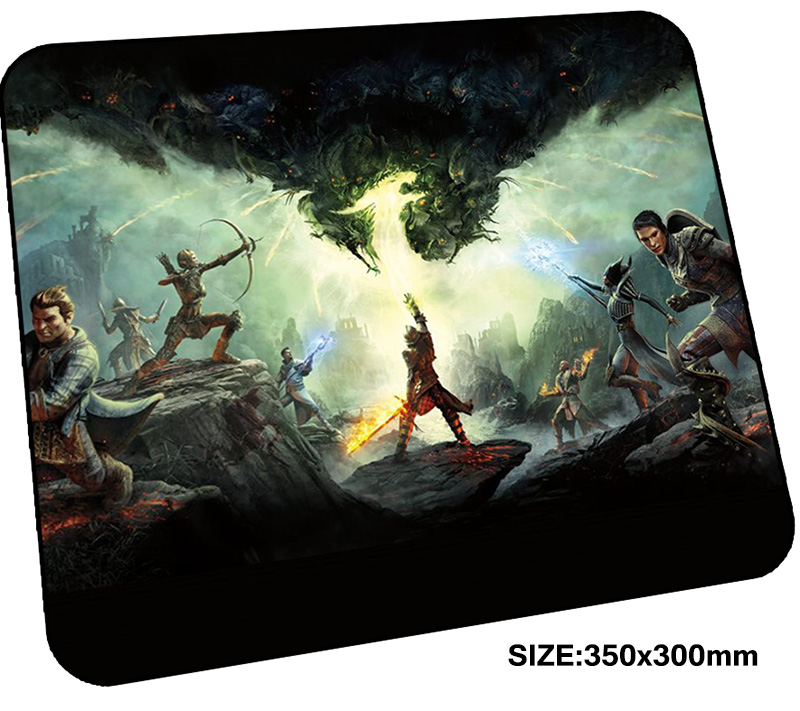 dragon age mousepad gamer 350x300x3mm gaming mouse pad present notebook pc accessories laptop padmouse Customized ergonomic mat