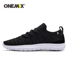 Onemix Mannen Casual Platte Schoenen Ademend Vamp Licht Tenis Masculino Zapatos Hombre Sapatos Outdoor Jogging Schoenen