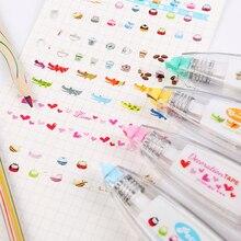 1PC Korea Stationery Cute Creative Lace Decorative Book Correction Tape Correction Fluid Office Supply 4 Colors