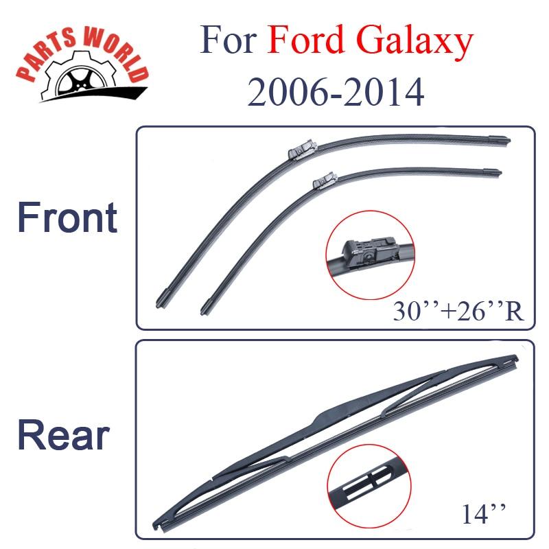 Μπροστινή και πίσω πλάκα υαλοκαθαριστήρα για το Ford Galaxy 2006-2014 Εξαρτήματα αυτοκινήτου υαλοκαθαριστήρων από φυσικό καουτσούκ