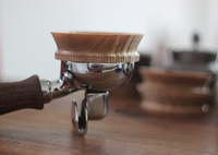 FeiC 1 ピースハンドメイド木製 IDR (インテリジェント投与リング) のための 58 ミリメートル醸造ボウルエスプレッソ改ざんバリスタ