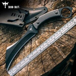 Image 5 - Karambit couteau tactique à lame fixe, couteau de chasse et de survie, couteaux de Combat de la Jungle, pour le Camping EDC