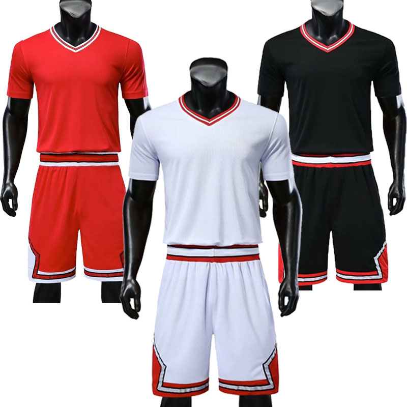 Youth Basketball Sets Boys Quick Dry Short Sleeve Jerseys Shorts Girls Sports Trainning Kits Customize Any Logos