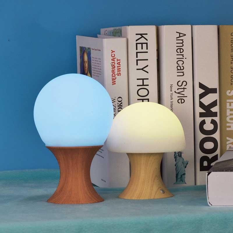 USB colorful Change night light cute mushroom children bedroom table lamp bedside decorative lights Gift lighting lamp