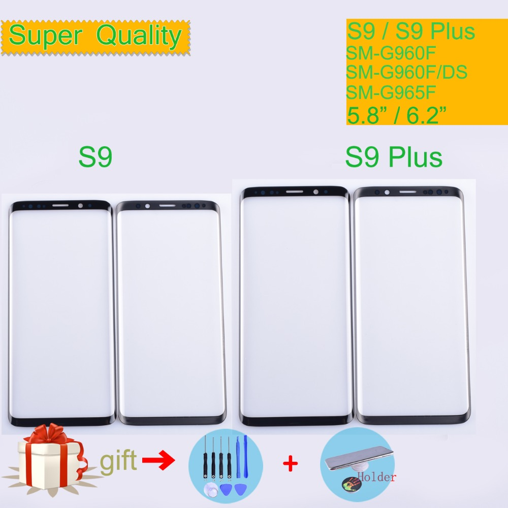 For Samsung Galaxy S9 G960 G960F SM-G960F S9 Plus G965F SM-G965F Touch Screen Front Glass Panel Outer Glass Lens NO LCD S9Plus