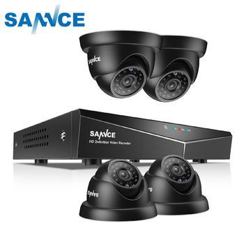 SANNCE 8CH 1080N HDMI DVR CCTV System 4pcs 720P Dome Security Cameras IR Indoor Waterproof Outdoor Video Surveillance CCTV Kit