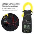 DT-3266L цифровой Ампер клещи мультиметр токовые клещи Вольтметр Амперметр 600A AC DC ток Ома тестер напряжения