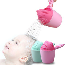 Cartoon Baby Bathing Caps Shampoo Cup Children Shower Washing Hair bath Tool