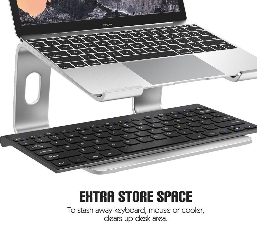Image 4 - Подставка для ноутбука LARICAR, Алюминиевая Подставка для  MacBook, Портативная подставка для ноутбука, Настольный держатель,  подставка для ноутбука, компьютераПодставка для ноутбука   -