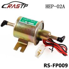 RASTP - 12V Electric Fuel Gas Oil Pump 3-6 PSI Pressure HEP-02A Universal For Car Truck Boat RS-FP009