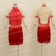 latin fringe dress Rumba Jive Chacha Latin Dress Dance ballroom dress dance wear latin Competition costume