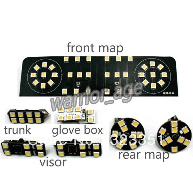ФОТО VW Interior LED Lamps Set 7 pcs For VW Golf MK6 09-11 Bright Quality New