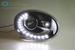 Image 4 - tuning cars Headlight For Beetle Headlights 2013~2018y DRL Running lights beetle taillight Fog lights