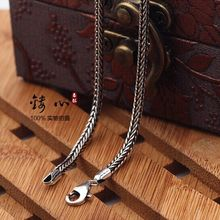 Handmade Thai 925 Sterling Silver Necklace for Pendants font b Men b font and women Necklace