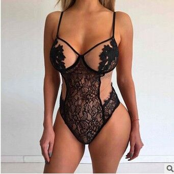 The New Women Sexy Lingerie Hot Plus Size Perspective Lace Sex Dress Erotic Underwear Halter Porno Lenceria Babydoll Costume