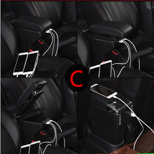 Для Chevrolet Aveo T200/T250 2002-2011 вращающийся верхней кожа центральной консоли коробка для хранения стаканов подлокотник 2008 2009 2010