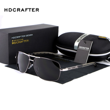 HDCRAFTER Brand Designer Sunglasses Men Polarized Driving Mirror Sun Glasses For Men High Quality oculos de sol masculino