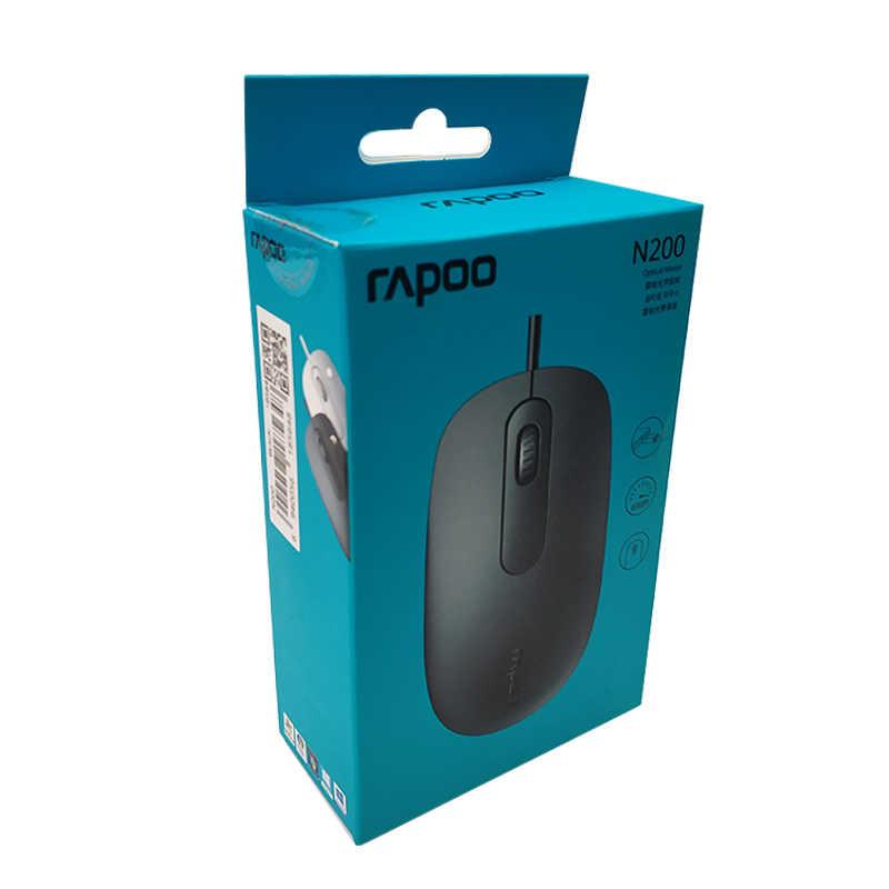 新 Rapoo N200 有線光学式ゲーミング事務所マウス 1000 DPI PC コンピュータでホームオフィス