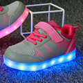 2016 Hot Sale The New Kids' Sneakers USB Charging Led Light  Shoes Mesh Comfortable and breathable Running Shoes size 25-37