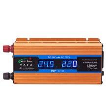 1200 Вт автомобильный инвертор 24 В 220 в преобразователь напряжения 24 В до 220 В Автомобильное зарядное устройство вольт дисплей выход 50 Гц CY922