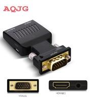 VGA Erkek hdmi Dişi Dönüştürücü 1080 P VGA auf HDMI Buchse Video Adaptörü VGA toHDMI Buchse Adaptörü