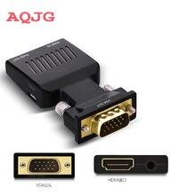 VGA Macho para HDMI Fêmea cabo Conversor 1080 P VGA Adaptador de Vídeo HDMI Buchse auf VGA toHDMI Adaptador Buchse
