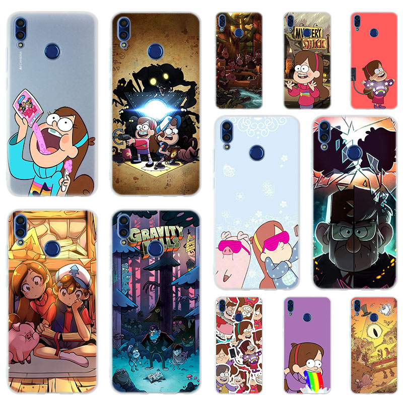 Gravity Falls Soft <font><b>Silicone</b></font> <font><b>Case</b></font> Cover For <font><b>Huawei</b></font> <font><b>Honor</b></font> 9 10 Lite 6X <font><b>7X</b></font> 8X Max Phone <font><b>cases</b></font> 7A 8A 8C V20 PLAY 10i image