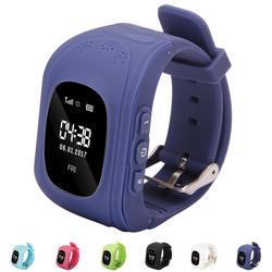 Безопасный smart наручные часы с gps детей телефонная сим-карта смарт-часы браслет SOS вызова Расположение Finder Анти потерял smart детские часы Q50