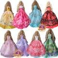 15 шт. = 5 платье принцессы свадебное платье + 5 обувь 5 аксессуары платье одежда для куклы барби