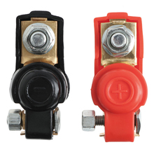 1 Pair Alloy Positive Nagative Battery Car Terminal Clamp Clips Connector New 1 pair car battery terminal insulation clamp clips protection protector sleeve covers pvc 62 30 25mm black red