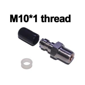 Image 3 - Пейнтбольный пневматический пистолет для страйкбола PCP 8 мм штекерное быстрое соединение с головкой обратный клапан односторонняя фокусная нержавеющая сталь