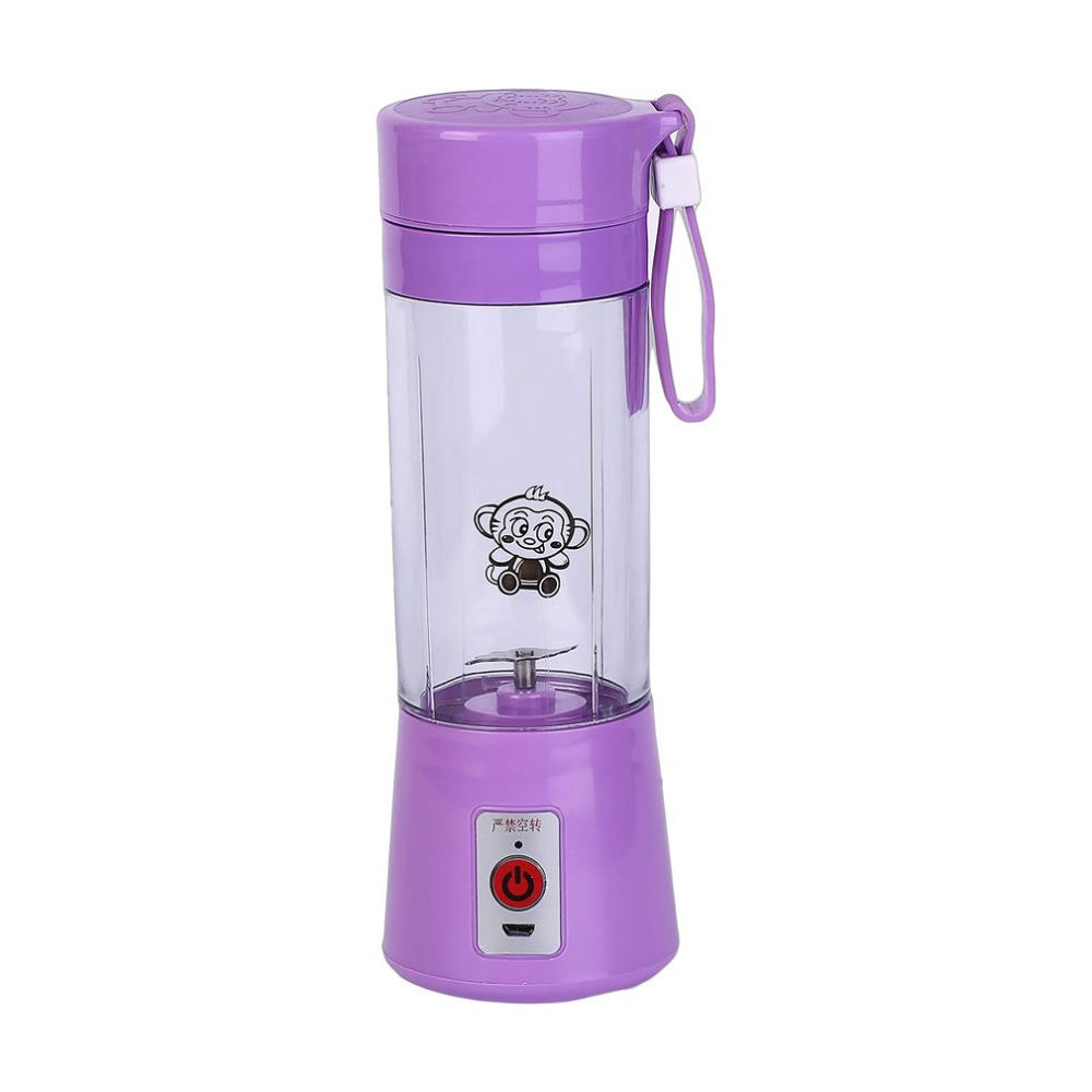 Portable 380ml USB Electric Fruit Juicer Handheld Smoothie Maker Blender Rechargeable Mini Portable Juice Cup Water Bottle