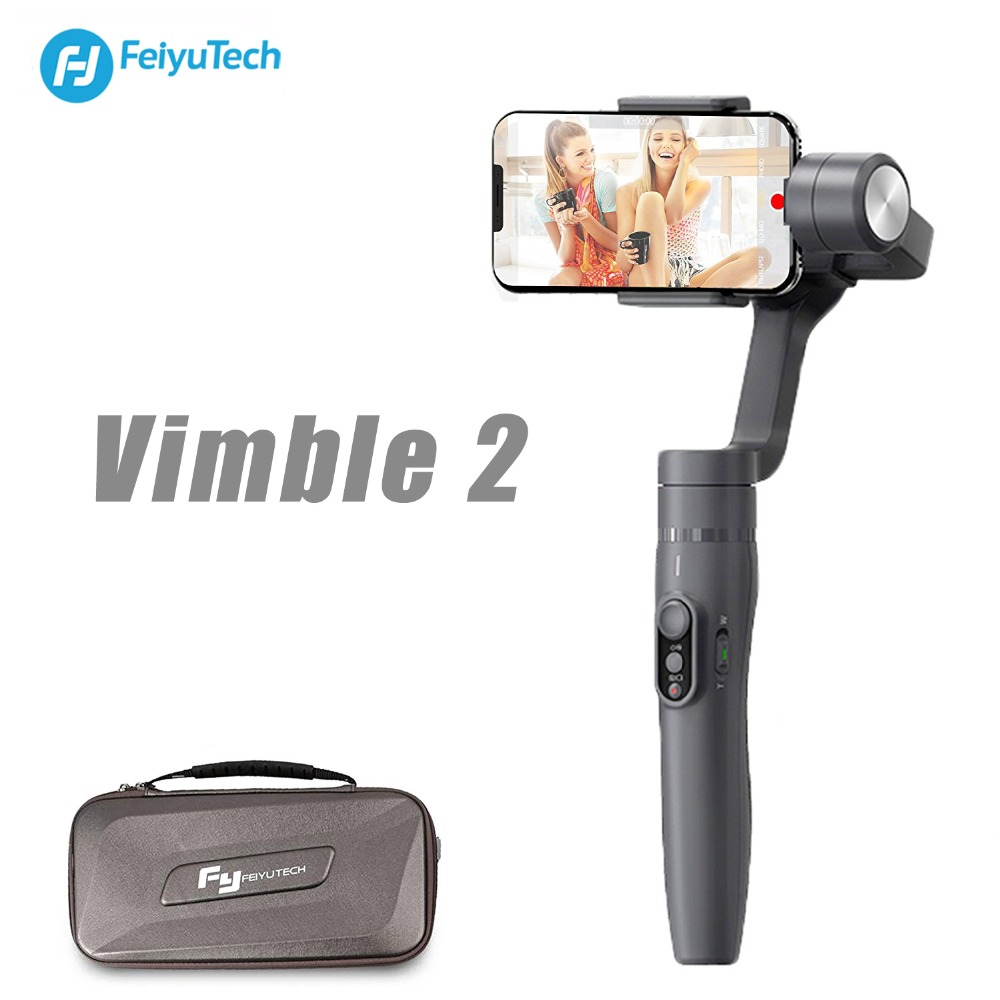 FeiyuTech Vimble 2 Extendable 3-Axis Handheld Stabilizer With Object Tracking Panarama Shooting Dynamic Time-Lapse Gopro Gamble video object tracking