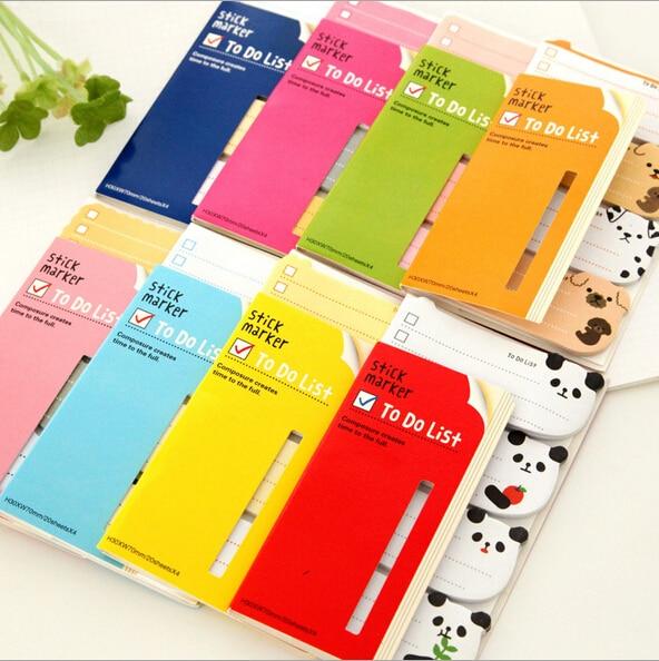 Diy Cute Kawaii Cartoon Animal Memo Pad Lovely Sticky Paper Post It Note School Supplies Korean Stationery Free Shipping K6841