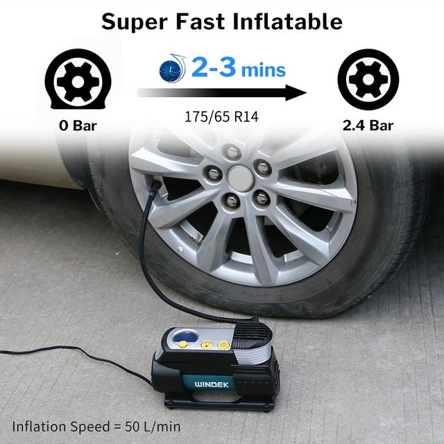 Digital Car Tire Inflator Auto Compressor