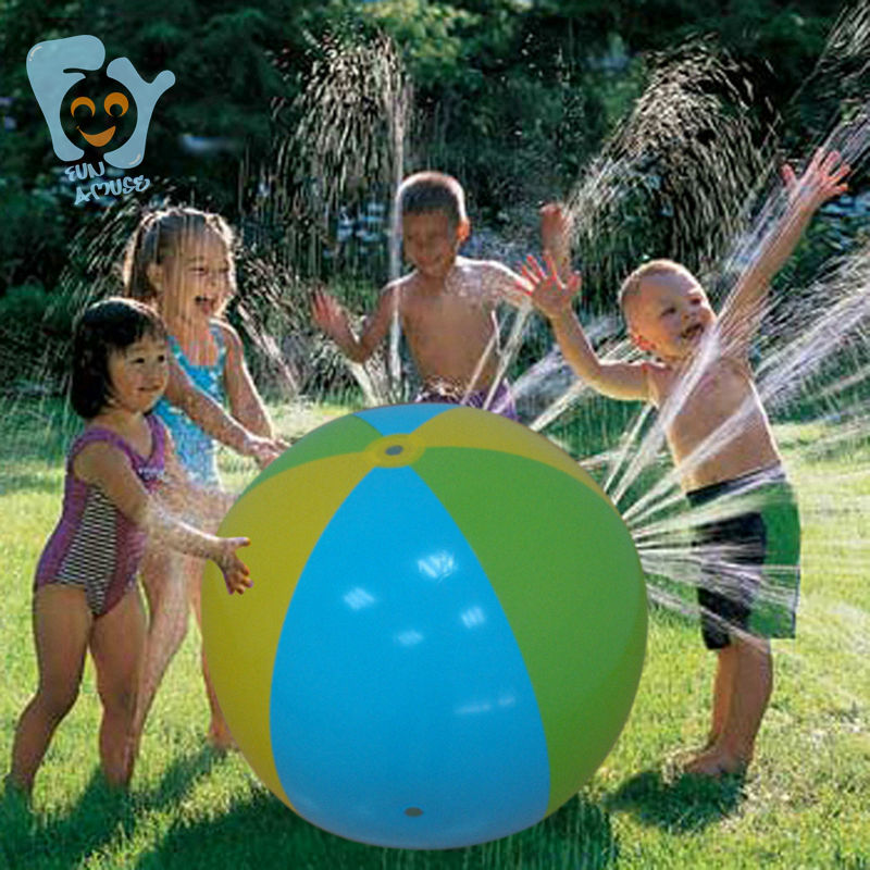 Inflatable Water Toys Inflatable Beach Ball Sprinkler Swimming Float Pool Beach Fun Boia De Piscinas
