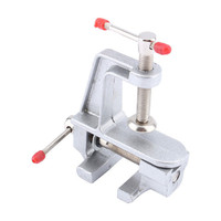 1pcs Vice Clamp 3.5 Inch Aluminum Miniature Small Jewelers Hobby Clamp On Table Bench Vise Mini Tool Vice Muliti-Funcational Hot