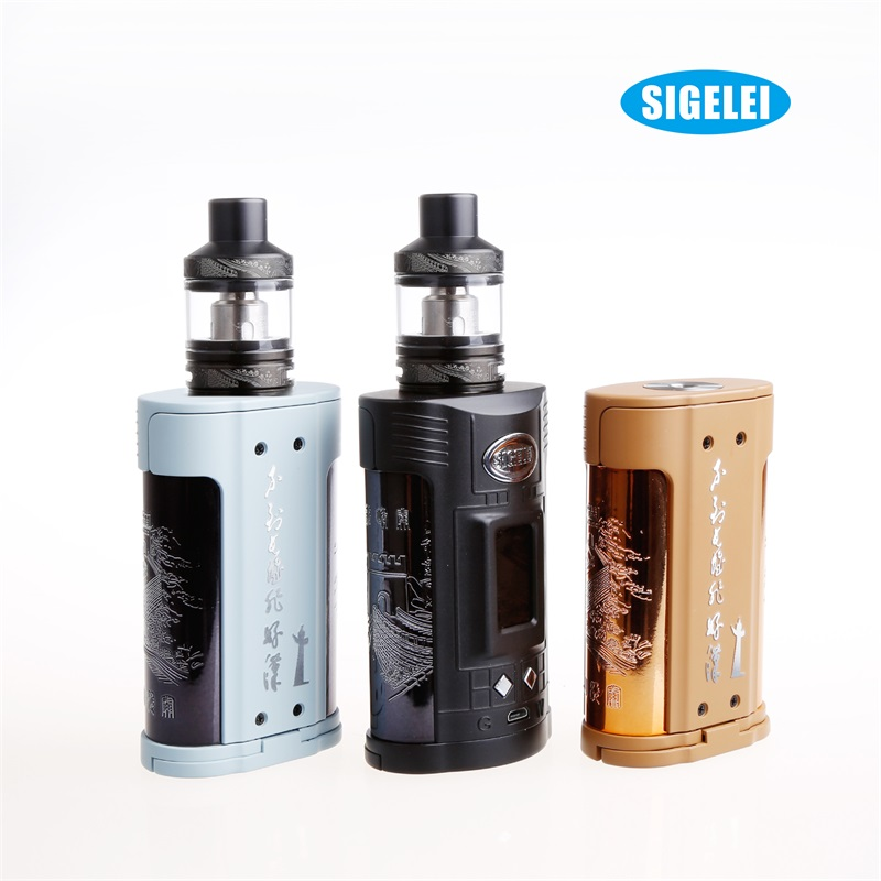 Preorder!! Original Sigelei GW kit Vape Box Mod Kit Temperature Control 257w Mod 4.5ML tank Capacity e cigarette Kit original lost vape triade dna 250 box mod