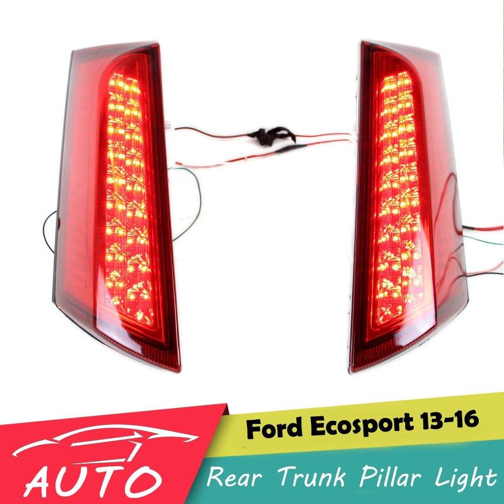 Светодио дный задний багажник столб хвост света для Ford Ecosport 2013 2014 2015 2016 вождения тормозной фонарь
