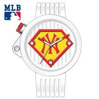MLB NY Mode Superman Style Montre En Caoutchouc Bande Dames Imperméables Montres Amant de Quartz Montre-Bracelet relogio masculino SD016
