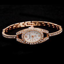 Summer Rhinestone Style Gold Watch For Women