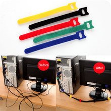 1Pc Candy Color Color Multi-function Magic Cable Tie Computer Cable Winder Cable Line Wrap Fastening Home Office Organizer Tool(China)