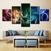 5 Panel Abstract Canvas Painting For Modern Living Room Decor No Frame Art Wall Decor Modular