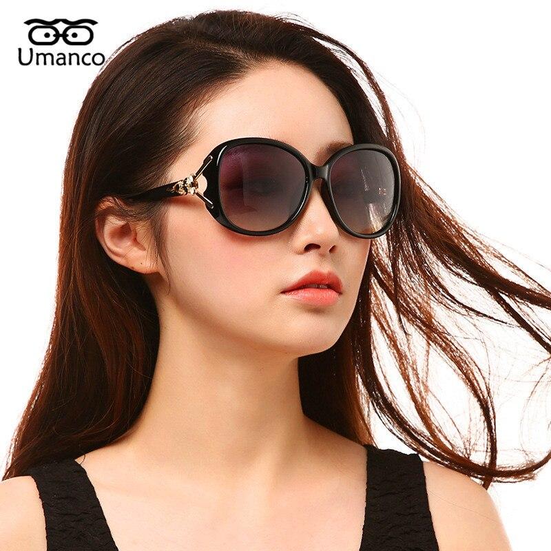 Umanco Oversized Polarized Sunglasses Women Vintage Fashion Big Frame Plastic Sun Glasses Female Summer Vacation Eyewears UV400
