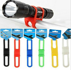 5PC Silicone Strap Bike Front Light Holder Bicycle <font><b>Handlebar</b></font> Fixing Tie Bycicle Torch <font><b>Flashlight</b></font> Bandages Speaker <font><b>Mount</b></font> 6 Colors image