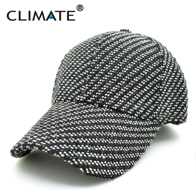 CLIMATE Men Women Best Extra Heavy Thick No Logo Black Warm Baseball Caps Twill Sports Active Casual One Size Adjustable Hat