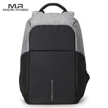 Multifunción USB de carga Hombres 15 inch Laptop Mochilas Para Adolescente de Moda Masculina Mochila mochila de Viaje de Ocio anti ladrón